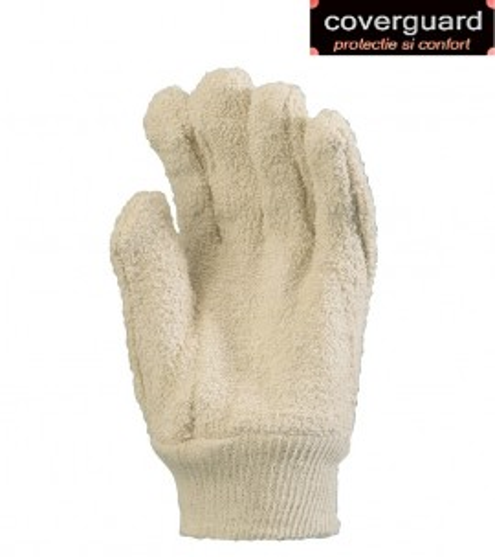 Manusi de protectie, tricot buclat bumbac 100%, 850 g/m2, manseta de 27 cm