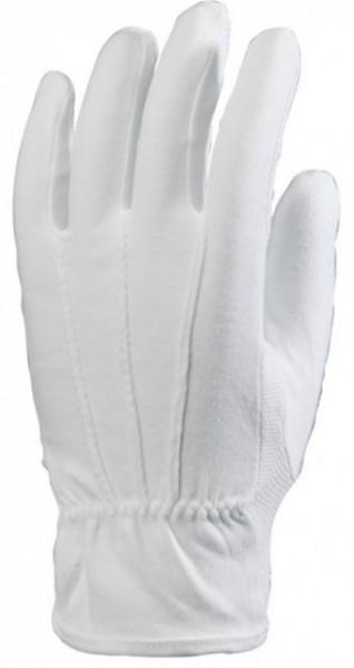 Manusi din bumbac 100% alb, cu picouri PVC
