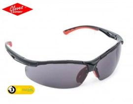 Ochelari de protectie braţe negre, lentile fumurii, antizgâriere Nanolux- INDISPONIBOL