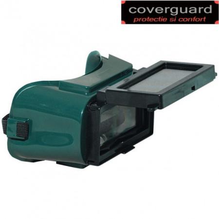 Ochelari pentru sudura cu sticlă de protecţie rabatabilă de dimensiuni 50x105, lentile de protecţie incolore, FERLUX