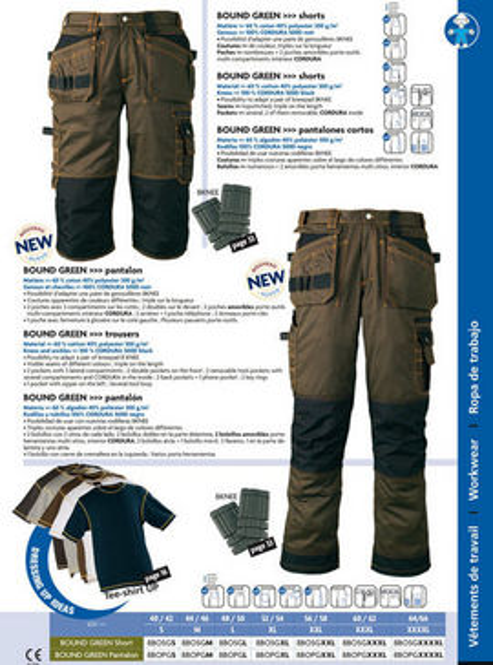 Pantaloni echipamente de protectie Bound Green confort