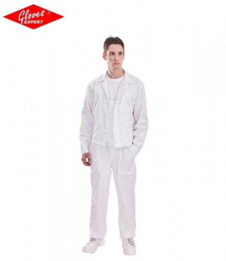 Imbrăcăminte textilă albă PANTALONI CU PIEPTAR