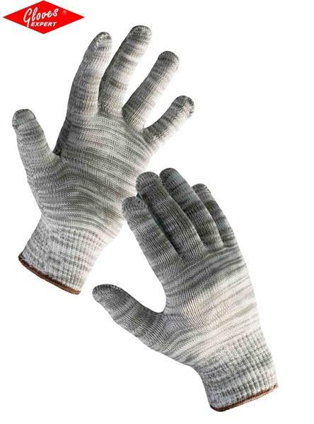 Mănuşi tricotate din nylon/bumbac BULBUL