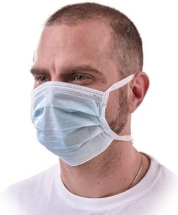 Mască igienică antipraf 3 pliuri