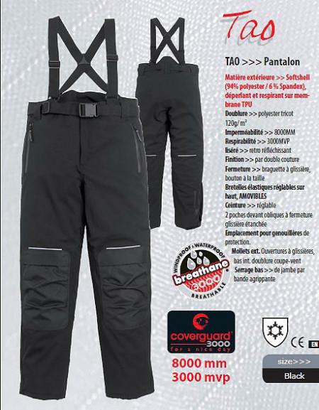 Pantaloni outdoor TAO softshell negru