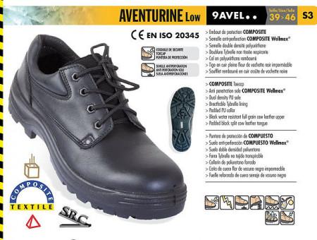 Pantofi cu protectie din piele fina Aventurine S3