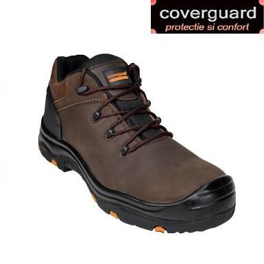Pantofi protectie S3 piele maro calitate superioara cu design modern