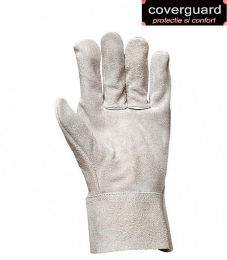 Manusi de protectie sudori scurte din piele spalt bovina, manseta 7 cm