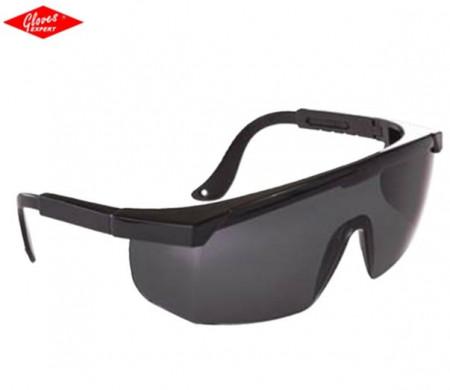 Ochelari protectie ramă neagră, lentile fumurii  LEO