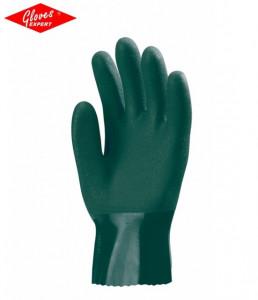 Mănuşi de protecţie de 27 cm lungime, din polimer verde