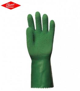 Manusi de protectie din bumbac imersat pe latex înăsprit verde