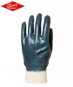 Manusi protectie din bumbac imersat in nitril albastru