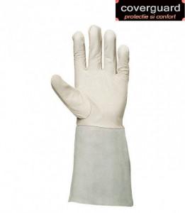 Manusi  sudor din piele de ovina, moale, calitate premium, manseta de 15 cm