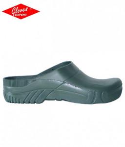 Papuci gradina, PVC verde, talpa antiderapanta
