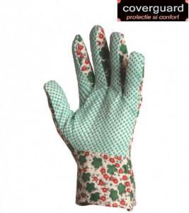 Mănuși grădinar din material textil, cu picouri PVC antiderapante