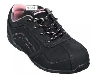Pantofi de protectie dama S3, calitate superioara, piele nubuc neagra