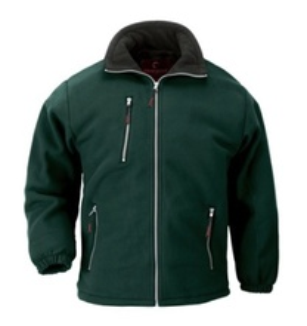 Jacheta de iarna din micropolar gros verde Angara