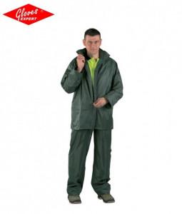Jacheta + pantaloni rezistenti la apa si vant, verde, galben si albastru URAGAN