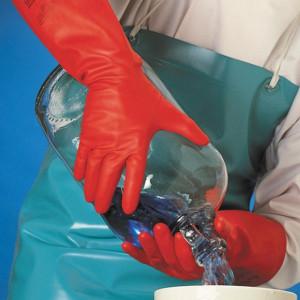 Mănuşi antistatice roşii, din nitril  SOL-VEX PREMIUM 37-900