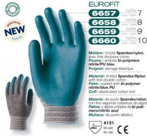 Manusi protectie Poliuretan Spandex verde 6660