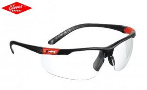 Ochelari de protectie braţe negre, lentile incolore THUNDERLUX