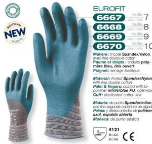 Manusi de protectie Spandex poliuretan 6670 lungi