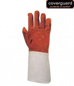 Mănuși sudor din piele şpalt bovină, rezistente la flacără şi căldură