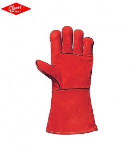 Manusi piele şpalt de bovină anti-scântei de culoare roşie  2208