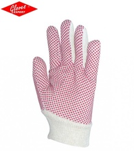 Manusi de gradinarit din material textil,picouri PVC rosii