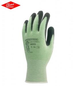Mănuşi de bază tricotate imersat în nitril negru pe palmă  EUROBAMBOU