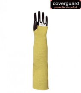 Manseta de protectie tricotat din fir Kevlar, rezistente la taiere, lungime de 55 cm
