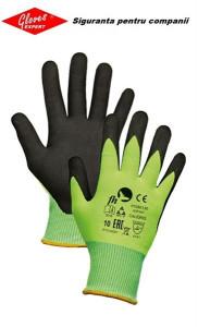 Mănuși din nailon Jersey / lycra imersată în nitril microporos CALIDRIS