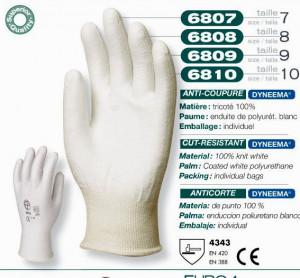 Manusi protectie antitaiere albe 6810