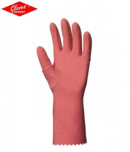 Manusi protectie din latex natural,roz pentru detergent
