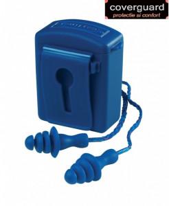 Antifoane interne albastre bine vizibile, cu bilă de oțel integrată
