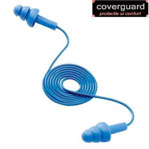 Antifoane interne 3M cu bila de otel incorporata,albastre,reutilizabile,cu snur mobil