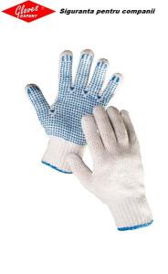 Mănuşi tricotate din poliester/bumbac HS-04-011 (PLOVER ECO)