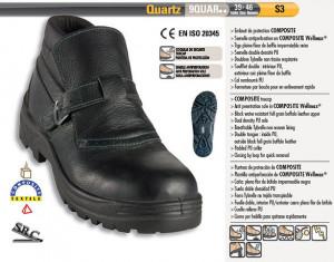 Bocanci de protectie pentru sudori QUARTZ S3 neagra