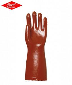 Manusi lungi protectie chimica imersate in PVC, 36-40 cm