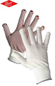 Mănuşi tricotate albe GANNET