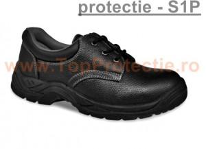 Pantofi protectie si lucru piele Economy S1P Garantie
