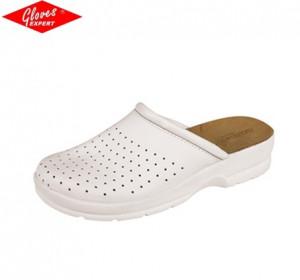 Papuci pentru femei din piele cu faţă corectată TARUCA