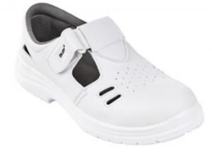 Sandale de protectie BUBO S1 si BUBI (01 FO SRC) cu scai, albe