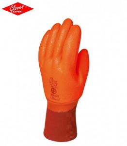 Manusi protectie impotriva frigului din bumbac imersat dublu în PVC portocaliu fluo - INDISPONIBIL
