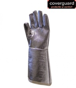 Manusi aluminizate, termorezistente, rezistente la taiere, manseta de 38 cm