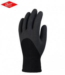 Manusi protectie,rezistente la abraziune,imersate in latex negru,antiderapante EUROWINTER