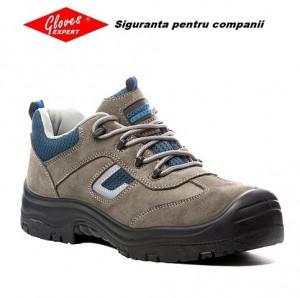 Pantofi de protectia muncii de vara piele si textil S1P Cobalt