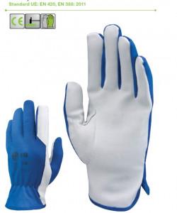 Manusi de protectie din piele cu nylon Albastru TopWork