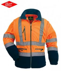 Vestă - jachetă polar reflectorizantă 2 ÎN 1