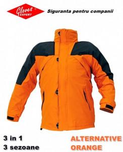 Geaca toamna iarna cu polar 3 in 1 - Alternative Orange - Portocalie
